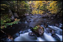 Cascade, Katahdin Brook. Katahdin Woods and Waters National Monument, Maine, USA ( color)