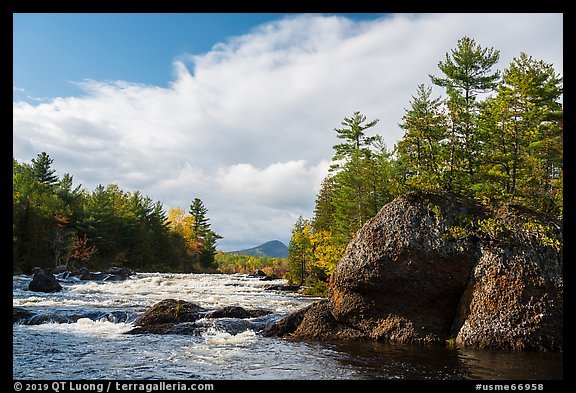 Haskell Rock Pitch, and Haskell Rock. Katahdin Woods and Waters National Monument, Maine, USA (color)