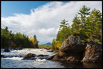 Haskell Rock Pitch, and Haskell Rock. Katahdin Woods and Waters National Monument, Maine, USA ( color)