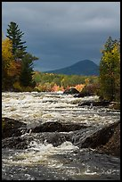 Haskell Rock Pitch of the East Branch Penobscot River, and Bald Mountain. Katahdin Woods and Waters National Monument, Maine, USA ( color)