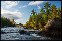 Bald Mountain and Haskell Rock, East Branch Penobscot River. Katahdin Woods and Waters National Monument, Maine, USA ( color)