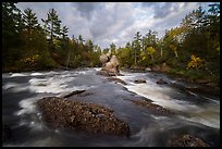 East Branch Penobscot River rapids and Haskell Rock. Katahdin Woods and Waters National Monument, Maine, USA ( color)