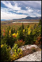 Mount Katahdin from Barnard Mountain top in autumn. Katahdin Woods and Waters National Monument, Maine, USA ( color)