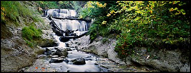 Waterfall in autumn. Upper Michigan Peninsula, USA (Panoramic color)