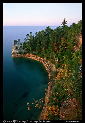 Miners castle, late afternoon, Pictured Rocks National Lakeshore. Upper Michigan Peninsula, USA (color)