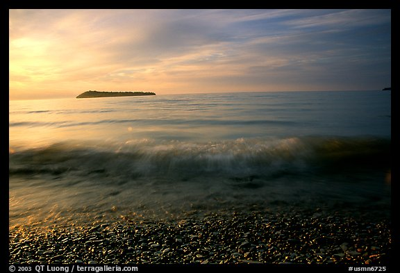 Lake Superior at Sunrise near Grand Portage. Minnesota, USA (color)