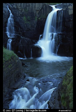 Pigeon Falls, Grand Portage State Park. Minnesota, USA (color)