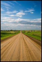 Gravel road. North Dakota, USA ( color)