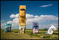 Car Art Reserve, Carhenge. Alliance, Nebraska, USA (color)