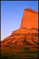 Scotts Bluff at sunrise. Scotts Bluff National Monument. South Dakota, USA (color)