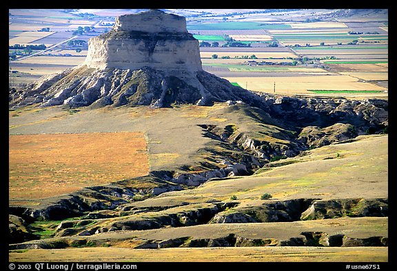 View from Scotts Bluff. Scotts Bluff National Monument. South Dakota, USA (color)