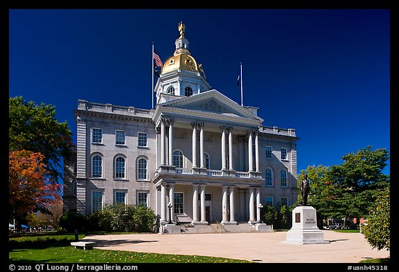 New Hampshire state house. Concord, New Hampshire, USA (color)