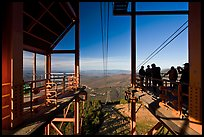 Cannon Mountain aerial tram top station, White Mountain National Forest. New Hampshire, USA ( color)
