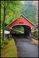 Pemigewasset River covered bridge, Franconia Notch State Park. New Hampshire, USA ( color)