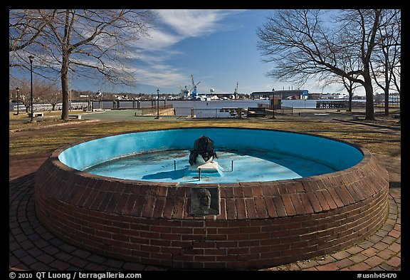 Empty basin, Prescott Park. Portsmouth, New Hampshire, USA (color)