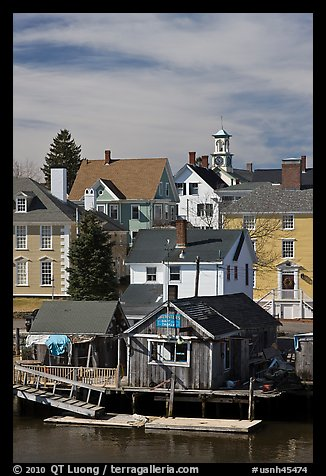 Group of historic houses. Portsmouth, New Hampshire, USA (color)