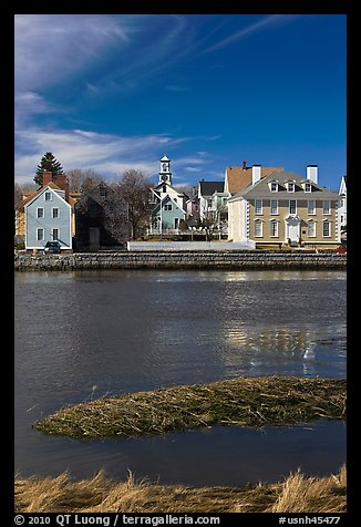 Wentworth-Gardner House and church. Portsmouth, New Hampshire, USA (color)