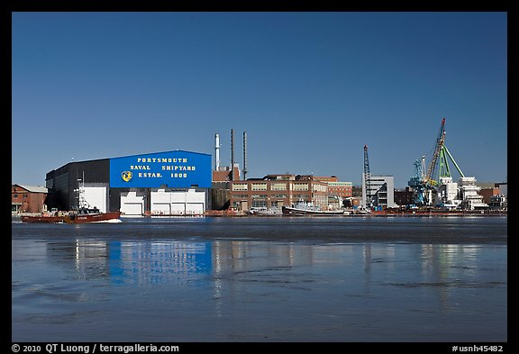 Portsmouth Naval Shipyard. Portsmouth, New Hampshire, USA (color)