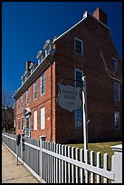 Warner house and fence. Portsmouth, New Hampshire, USA (color)