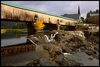 Triple-arch covered bridge, Bath. New Hampshire, USA ( color)