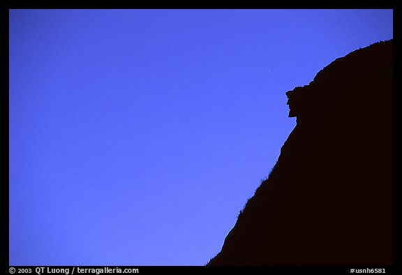 Profile of old man of the mountain, Franconia Notch State Park. New Hampshire, USA (color)
