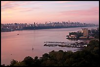 New Jersey shore and Manhattan from Fort Lee. NYC, New York, USA ( color)