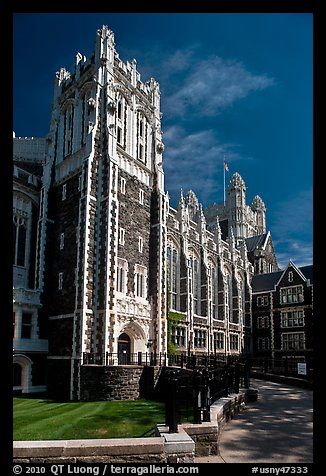 Shepard Hall, the City University of New York. NYC, New York, USA (color)
