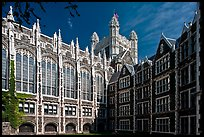 Shepard Hall, the City College, CUNY. NYC, New York, USA (color)