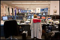 Newsroom with open floor plan, One Beacon Court. NYC, New York, USA (color)