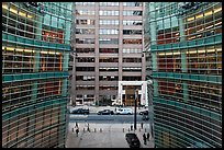 One Beacon Court courtyard from building. NYC, New York, USA (color)