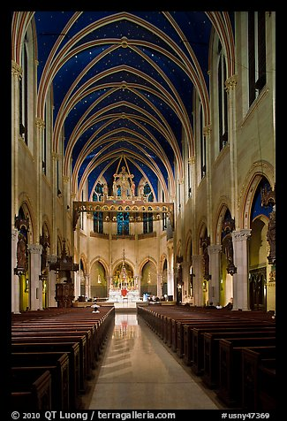 Church interior. NYC, New York, USA