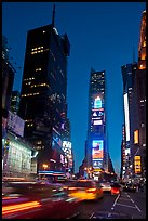 One Times Square at dusk. NYC, New York, USA (color)