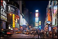 The Great White Way (Times Square) at night. NYC, New York, USA ( color)