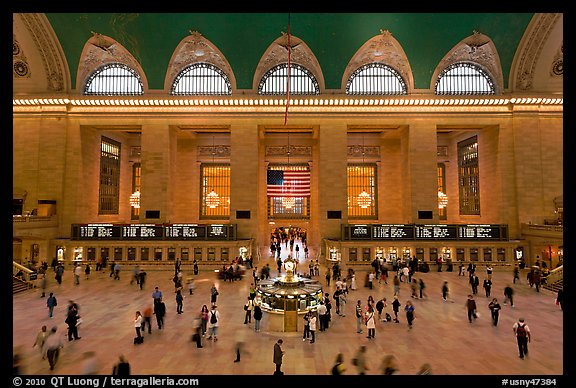 Grand Central Station interior. NYC, New York, USA (color)
