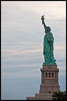 Liberty Enlightening the World, side view, evening. NYC, New York, USA