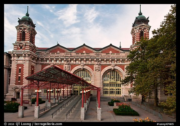 Immigration Museum, Ellis Island, Statue of Liberty National Monument. NYC, New York, USA (color)