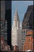 Chrysler Building from Roosevelt Island. NYC, New York, USA (color)