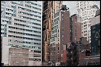 Vintage high-rise buildings, Manhattan. NYC, New York, USA ( color)