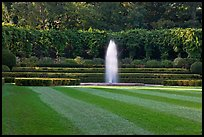 Fountain, Conservatory Garden. NYC, New York, USA (color)