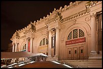 Metropolitan Museum at night. NYC, New York, USA (color)