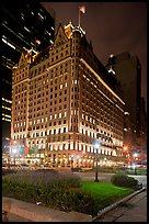 Plaza Hotel at night. NYC, New York, USA ( color)