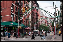 Little Italy street. NYC, New York, USA ( color)