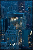 Office towers at dusk. NYC, New York, USA ( color)