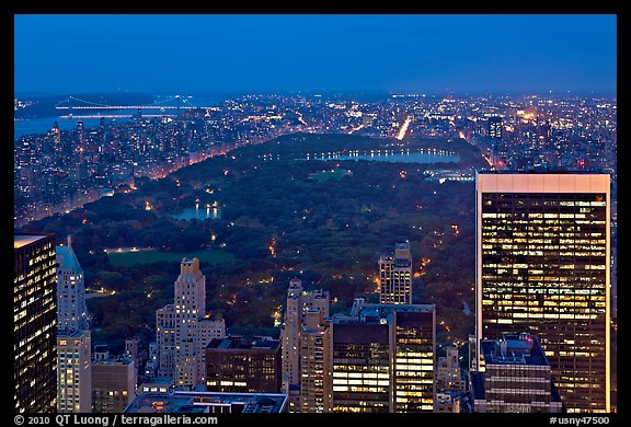 Picture Photo Central Park At Night From Above Nyc New