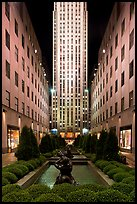 Rockefeller center by night. NYC, New York, USA ( color)