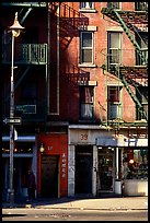 Street in Chinatown. NYC, New York, USA
