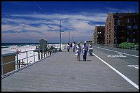 Boardwalk on Long Beach. Long Island, New York, USA (color)