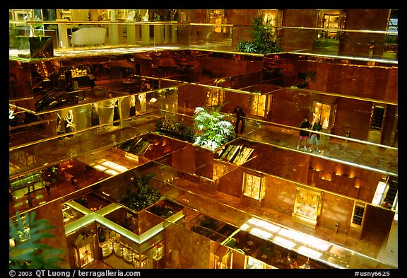 Picture Photo Inside The Trump Tower Nyc New York Usa