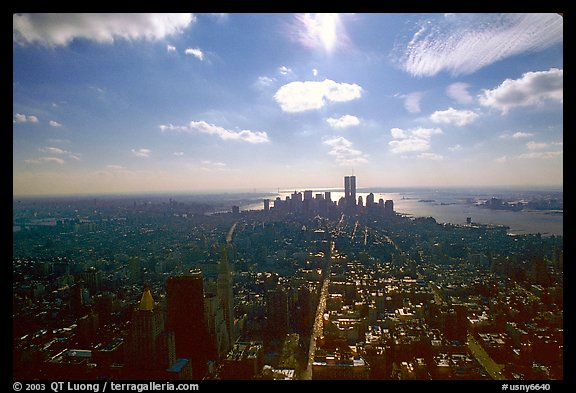 Midtown and Lower Manhattan seen from the Empire State Building, afternoon. NYC, New York, USA (color)