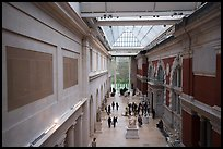 Gallery from above, Metropolitan Museum of Art. NYC, New York, USA ( color)